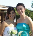 My Matron of Honor, Lindsey, and I at her wedding in 2010